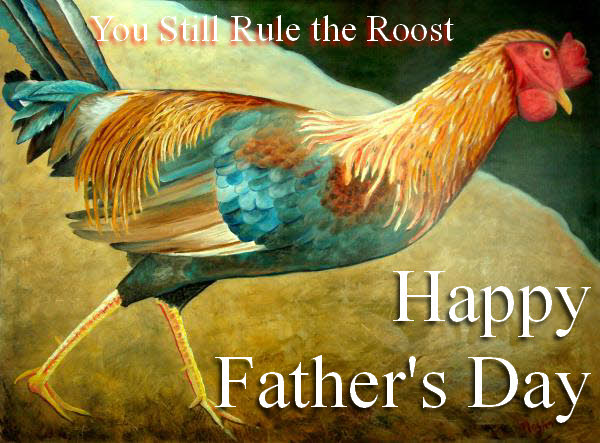 Rule the Roost Online Greeting Card by Artist Scott Plaster